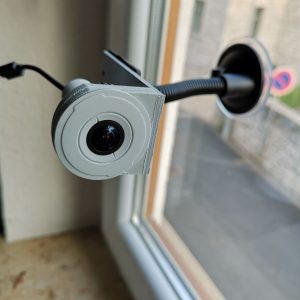 Flexible camera mounting with suction cup